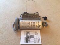 Panasonic KX-FP205E A4 Mono Thermal Fax Machine & phone with copy ability.