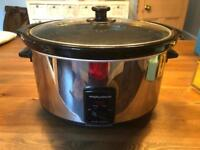 Black and Chrome Slow Cooker