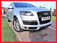 7 Seater -- Audi Q7 - 3.0 TDi Auto -- S Line -- Diesel - Automatic - Full Leather Seats - Part Ex OK