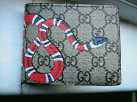 Gucci supreme Kingsnake GG wallet New
