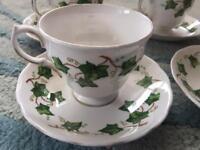 Bone china tea set ivy colclough duchess cups saucers jug