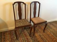2 Dining chairs Queen Anne Style
