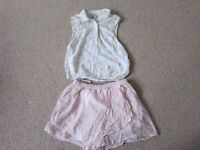 Girls Two Piece Abercrombie & Fitch Top and Skort Set for Age 11-12 approx