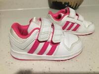 Baby girl adidas shoes size 5,5