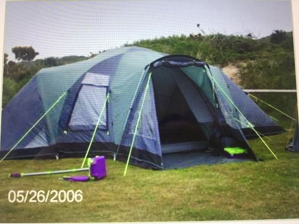 Outwell hartford xl tent 3 bedroom 8 man in beverley for Small 3 room tent