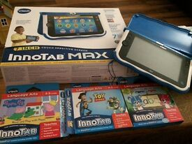 Innotab Max - blue - with three games - props pig, toy story, Corey learn to read and write