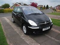 2008 CITREON PICASSO DESIRE1.6 PETROL BLACK M.O.T. MARCH 2018
