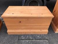 Pine wood blanket box £39