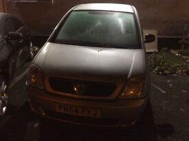 Vauxhall meriva not mot