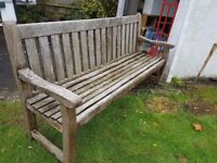 Solid garden bench for sale