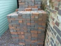 Facing bricks (seconds) about 3,500