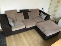 Cosy cord corner sofa - delivery possible