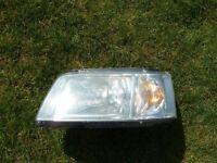 VW TRANSPORTER T5 HEADLAMP HEADLIGHTS L/H PASSENGER SIDE AND O/S OFFSIDE DRIVERS SIDE USED