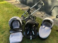 Oyster 2 Pushchair Silver & Grey