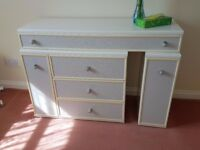 Chest drawers - grey and white with long drawer on top. Great condition