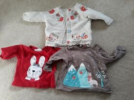 17 items - Baby girl clothes bundle 0-3 months