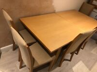 Extendable dining table with 6 chair - New