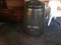Black wall compost bin 330 litres black