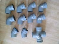 JOB LOT! £320 worth of Osma pipes and fixings for £125. Soil Pipes, Drainage, Plumbing