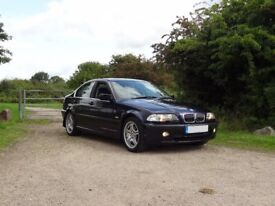 Y 2001,BMW E46 320i SE/SPORT INDIVIDUAL,ORIENT BLUE,BLACK LEATHER,HEATED SEATS. 12 months mot
