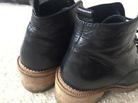 Size 3 black leather asos boots