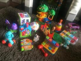 Large collection of baby and toddler toys