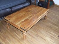 SOLID WOOD COFFEE TABLE FREE DELIVERY WITHIN EDINBURGH