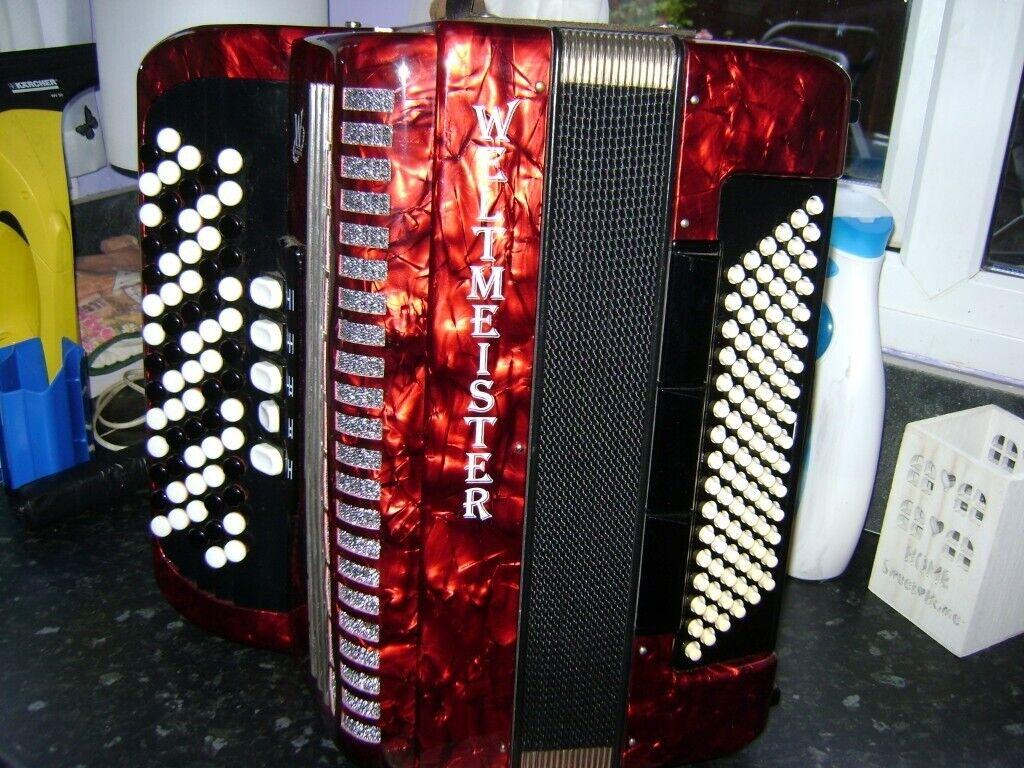 weltmeister 96 bass chromatic accordion light weight model | in Longbridge,  West Midlands | Gumtree