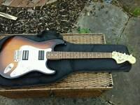 Bargain Fender squire sunburst with schaller golden 51 humbuckers,and case
