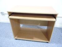 Wooden Computer Desk PC Laptop Writing Table Storage Shelf Workstation Wood Cart Tray Furniture