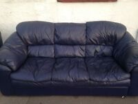 S.C.S LEATHER 3 SEATER SOFA AND MATCHING ARM CHAIR EXCELLENT CONDITION FREE LOCAL DELIVERY AVAILABLE
