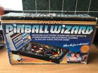 Grandstand pinball wizard retro 80s pinball machine game