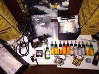 Tattoo equipment, full set up