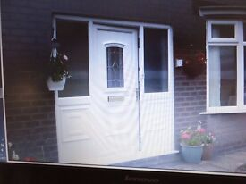 pvc porch or front door with side panels