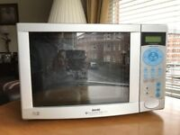 Sanyo EMD9553SN 32L Silver Touch Control Fan Assisted Microwave, Grill & Convection Oven 900W/1200W