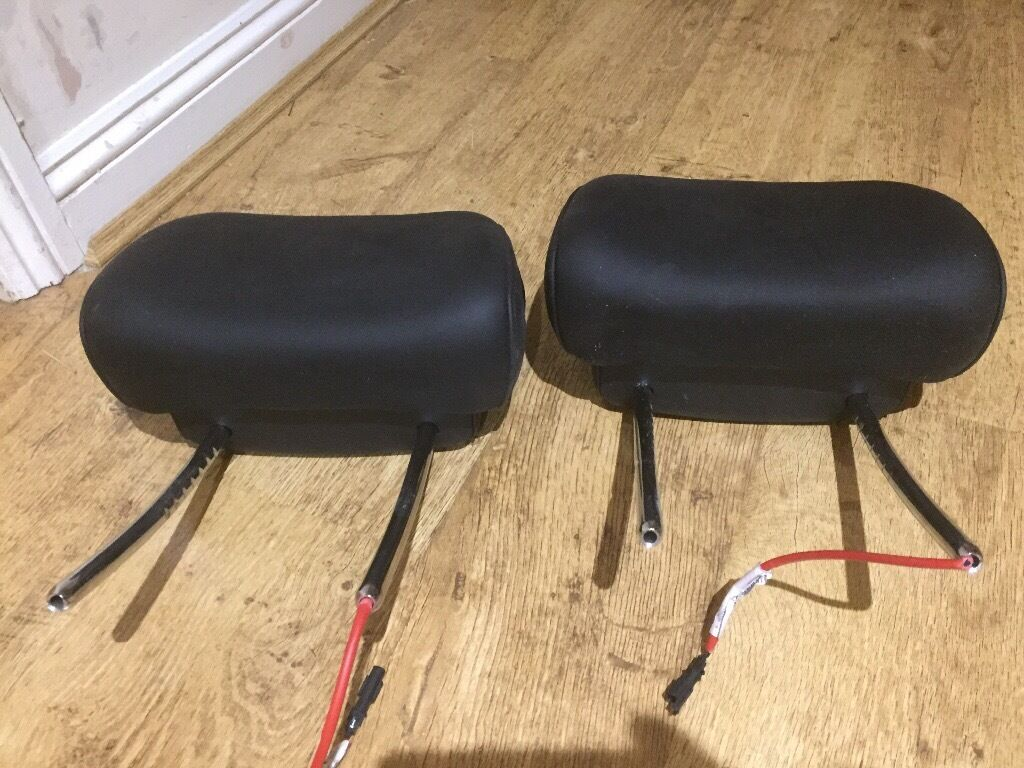 2 Bmw leather headrests
