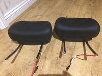 2 Bmw leather headrests