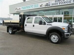 2015 Ford F-550 Crew Cab 4x4 Gas with 12 ft steel dump box