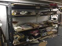 Metal frame shelving