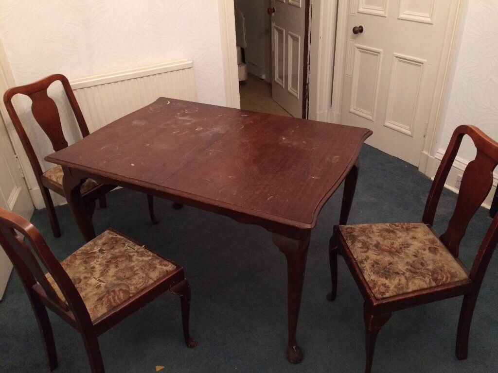 Dining Room Table And 3 Chairs Free