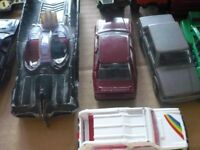 Vintage Corgi diecast cars and vans dating from 1960s and 1970s