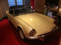 Early 1969 Triumph Spitfire MK3 1300cc. One Family 30 years. Matching Numbers. Tax Exempt. Long MOT