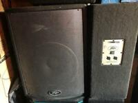 2 x peavey passive 15'' speakers