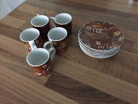 5 Espresso mugs