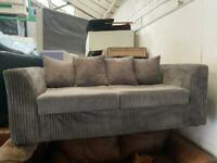 GREY FABRIC SOFA 2 SEATER IN EXCELLENT CONDITION