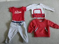 Baby boy clothes 9-12months (31 items Next/Boots/Hand knitted)