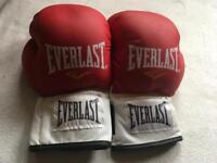 Everlast men's boxing gloves size M used good condition £5