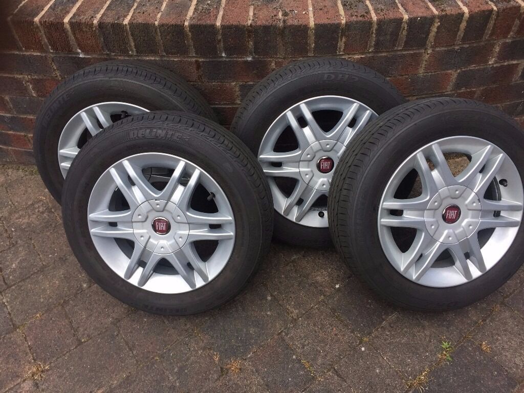 fiat panda 14 alloy wheels genuine fiat with as new delinte 165 65 r14 tyres in billinge. Black Bedroom Furniture Sets. Home Design Ideas