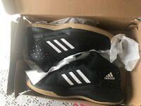 Mens Adidas Court Fury Basketball Shoes Trainers Black UK Size 13.5