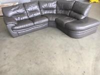 Leather L shape corner sofa •free delivery